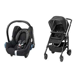 Maxi-Cosi Loola 3 Pushchair and CabrioFix Group 0+ Car Seat Bundle - Black Raven