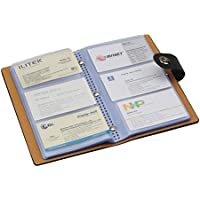 Tenn Well Business Card Books, 300Cell Business Card Holders with Magnetic Closure for Organizing Cards (Black)