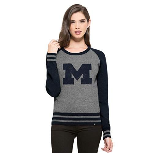 NCAA Damen Pullover '47 Neps Sweater, Slate Grey Neps, Large - Knit Black Slate