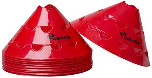 Cawila Hütchen Multischeiben, 10er Set, Rot, 15 cm, 00500153