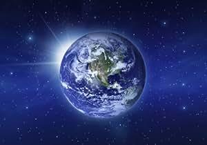 """Papier peint photo No.93 """"MOTHER EARTH"""" 400x280cm monde, terre, ciel, univers, étoiles, planète, bleu, pas cher"""