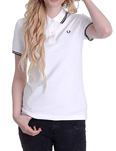 6f9bfb56bdf024 Fred Perry - Fred Perry Polo regolato Bianco donna Twin Tipped Fred Perry  Shirt - S
