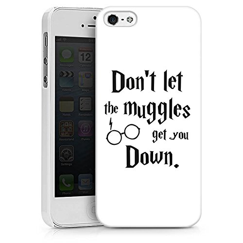 Apple iPhone X Silikon Hülle Case Schutzhülle Muggles Statement Harry Potter Hard Case weiß
