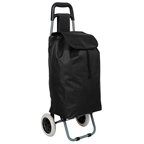 TecTake Einkaufstrolley Einkaufsroller klappbar - Diverse Farben - (Schwarz | Nr. 401270)