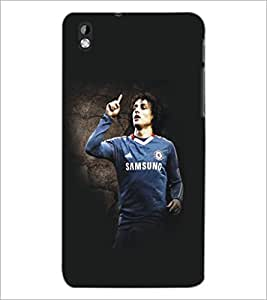 PrintDhaba Football Player D-5420 Back Case Cover for HTC DESIRE 816 (Multi-Coloured)