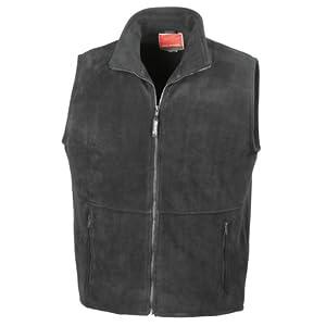 Result R037X Active Fleece Bodywarmer Gilet Black 2XL