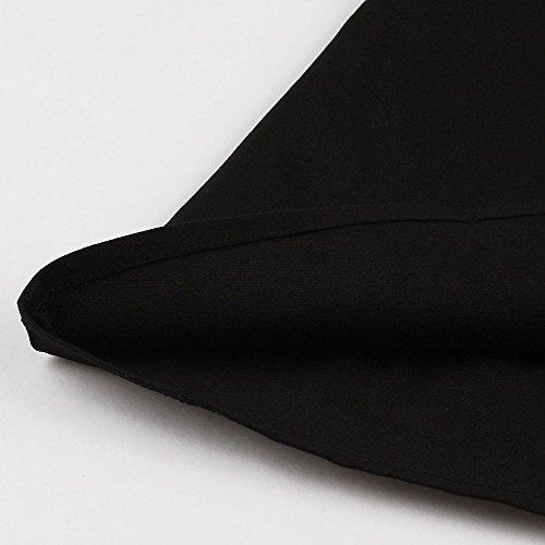 VKStar® Retro Herbst Abendkleid/Cocktailkleid mit Streifen Vintage 50er Rockabilly Swing Audrey Hepburn Kleid mit 1/2 Ärmel Blau