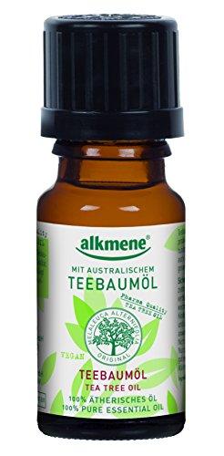 alkmene Teebaumöl ätherisches Öl - Melaleuca gegen Pickel, vegan, 3er Pack (3 x 10 ml)
