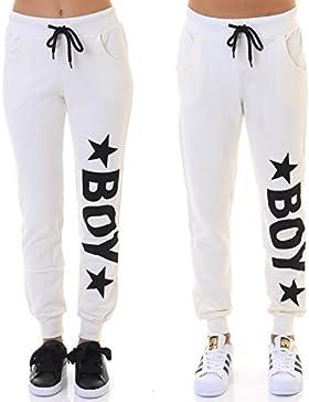 Boy London Panta Sudadera Off-White, bianco