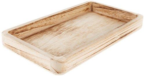 -Tablett natur - schlichtes Tablett zur Verwendung als Dekoration - Tischdeko und Raumschmuck ()