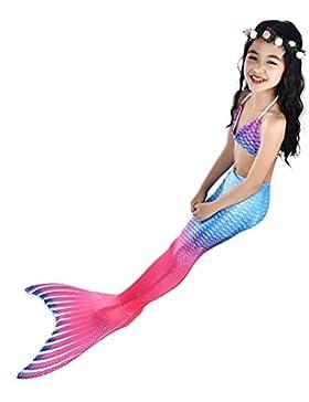 YuFLangel Bañador de Sirena para Niños Bañador de Cola de Sirena Bañador de Sirena de Sirena Bikini (Color : Púrpura...