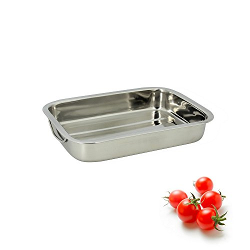 TheKitchenette 4615220 Plat Rectangle INOX 30 cm