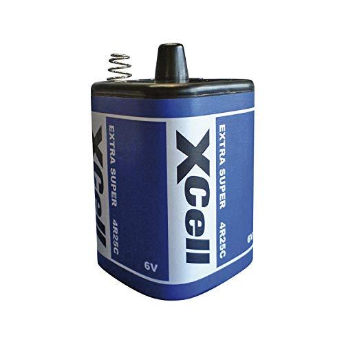 6 Volt 9500 mAH Baustellenleuchte Warn 12x XCell 4R25 6V-Block Batterie SET