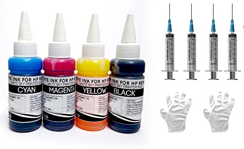 HP Printer Refill Ink for Cartridges 802, 678, 901,818,21,22,680,27,703,704,803,685,862,920,808,960 with 4 Syringes – 300ml Premium Quality image - Kerala Online Shopping