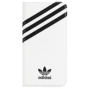 Adidas Booklet Case for Apple iPhone 6 Plus - White/Black