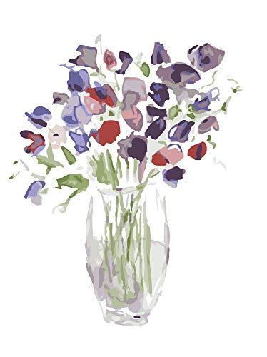 FDDPT Pintar por Numeros La Flor DIY Kits Niños Regalos Decoración hogareña 40x50 cm