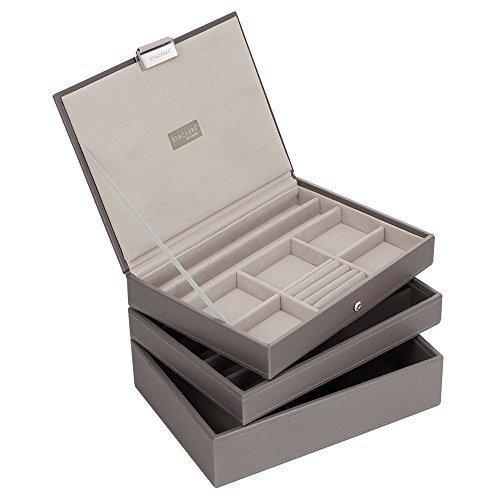 3er Set Nerz & grau m Stapler Juwelen Tabletts -Stil 2