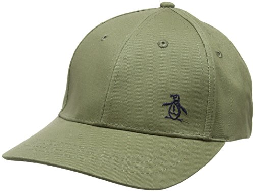 Original Penguins Classic Logo Baseball Cap, Green (Burnt Olive), One Size
