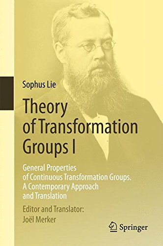 Theory of Transformation Groups I : General Properties of Continuous Transformation Groups. A Contemporary Approach and Translation