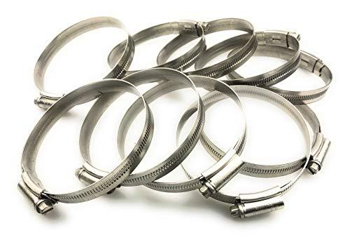 10 Stücke Jubilee® Schlauchschellen mit Schneckenantrieb, Spannbereich Stahl SS304, 70-90mm