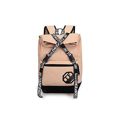 HTRPF Fashion Casual Reisetasche Reisetasche Herren und Frauen Rucksack dark khaki