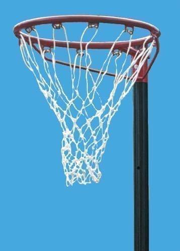 New Harrods Panier de Basketball-Ballon de Netball de compétition &sport filets-Polyéthylène-Blanc-Lot de 2