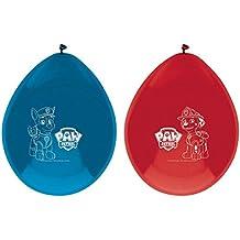 Set 8 globos fiesta Patrulla Canina Paw Patrol surtido