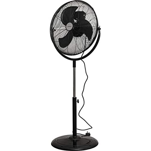 Schallen 18″ 360° Rotation High Velocity Pedestal Floor Standing Air Cooling Fan in BLACK