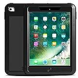 Hülle Für Apple iPad Pro 9.7 Kreditkartenfächer Stoßresistent Wasser / Dirt / Shock Proof Ganzkörper-Gehäuse Volltonfarbe Hart Metal für ( Farbe : Gelb , Kompatible Modellen : IPad (2017) )