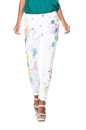 Salsa - Kim Boyfriend Jeans avec des taches - Femme Blanc