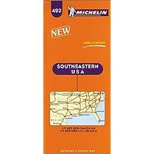 Carte routière : U.S.A. Southeastern, N° 492