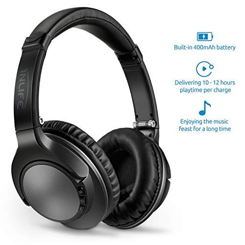 Cuffie Wireless Stereo Sovraurali Bluetooth 4,1 On Ear senza Fili con Microfono Incorporato Tasto di Rispondere 3,5mm Audio Jack Funzione scheda TF (Nero)
