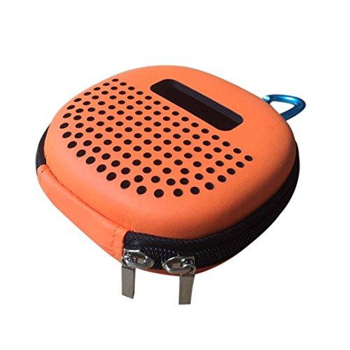 Tragbare Lautsprecher Lagerung Reisetasche mit Kletterschnalle Stoßfest Carry EVA Runde Hohl Design Mini Tasche für Bose Soundlink Micro Bluetooth Lautsprecher (Orange)