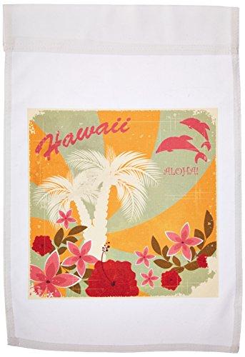 3dRose FL 167255_ 1Hawaii Print Blumen Palmen Sunset Garden Flagge, 12von 18