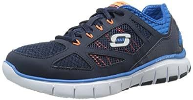 SkechersSkech-FlexLife Force - Sneaker Uomo, Blu (Blau (NVBL)), 40