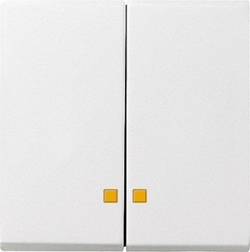 Gira 0631 27 Serienwippe 063127 Kontrollfenster System 55 rw matt, Weiß