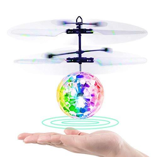 zeug-Hubschruber RC fliegender Ball mit LED Leuchtung Kinder Fliegen RC Kugel-LED-Blitzen-Licht Flugzeug-Hubchrauber-Infrarot-Induktions-RC Spielzeug ()