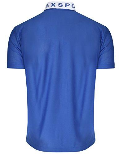 BCPOLO Zip Poloshirt M?nner China-Kragen T-Shirt DRI FIT Kurzarm Polo Shirt Blue