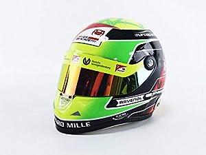 Mini Helmet - Coche en Miniatura de la colección MickSchumacher2019, Amarillo, Verde y Negro