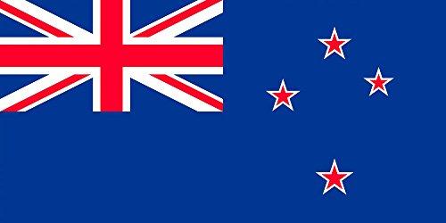 SoCal Flaggen® Marke Neuseeland Flagge 3x 5Fuß Polyester-Hohe Qualität Wetter beständig Robuste Innen Außen dänischen Banner-100D Material nicht siehe durch wie andere Marken