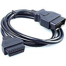 HaoYiShang gm 12 Pin a OBD1 OBD2 16 Pin Conector Adaptador Auto Motor Herramienta De Diagnóstico Cable