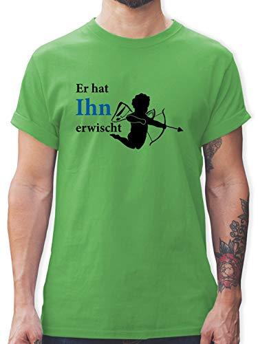 Zubehör Kostüm Cupid - JGA Junggesellenabschied - Er hat Ihn erwischt - L - Grün - L190 - Herren T-Shirt und Männer Tshirt