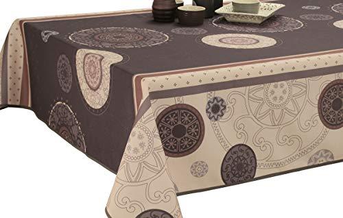 Nappe anti-taches Tzigane Gris - taille : Rectangle 150x300 cm