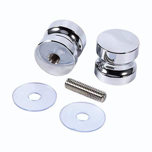 41T5L2D4qnL - Tirador para puerta de muebles Manija de puerta de la aleación de aluminio para el gabinete de la ducha del cuarto de baño del botón de cristal solo