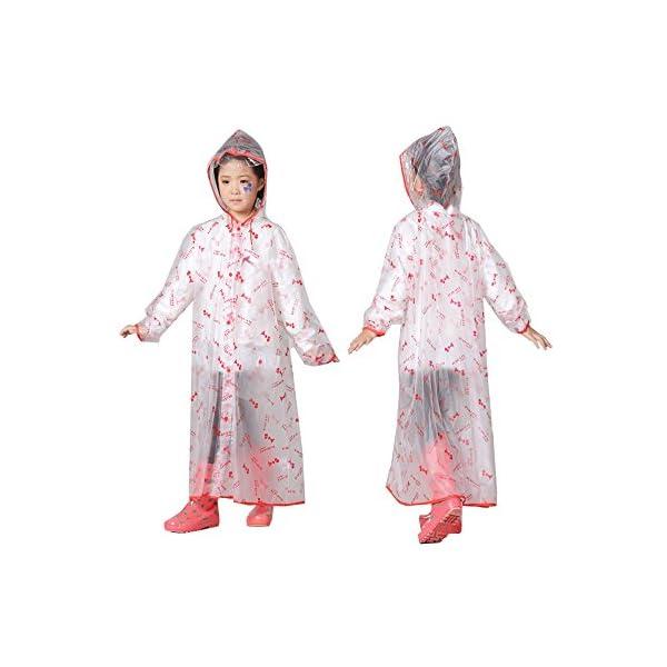YBWEN Impermeable de los niños Poncho Impermeable para niños Escolar Impermeable Largo plástico Grueso Respirable Poncho… 1