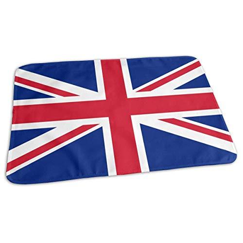 Kotdeqay Premium Wickelauflagen für Babywindelfor Infant Union Jack Flag Portable Incontinence Pads Sanitary Mats Great for Travel/Stroller/Bed/Car