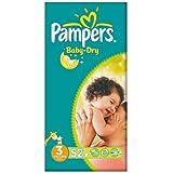Pampers Baby Dry taille 3 (4-9 kg) Essential Pack de Midi 2x52 par paquet