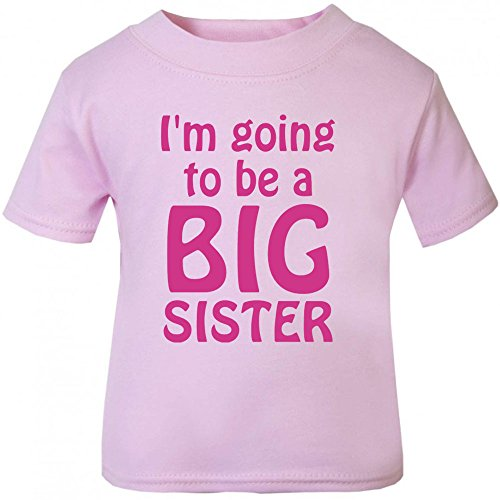 Image of I'm Going To Be A Big Sister T-Shirt. (1-2 years, Pink T-Shirt - Fuchsia Vinyl)