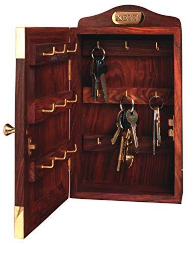 Nauticalia Schlüsselkasten aus Holz, Marineblau