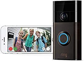 Ring Video Doorbell (1. Gen) | Con notificaciones activadas por movimiento, vídeo HD y comunicación bidireccional